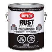 Krylon Rust Protector - Rust Preventative Enamel - 3.78 L - Semi-Gloss Black