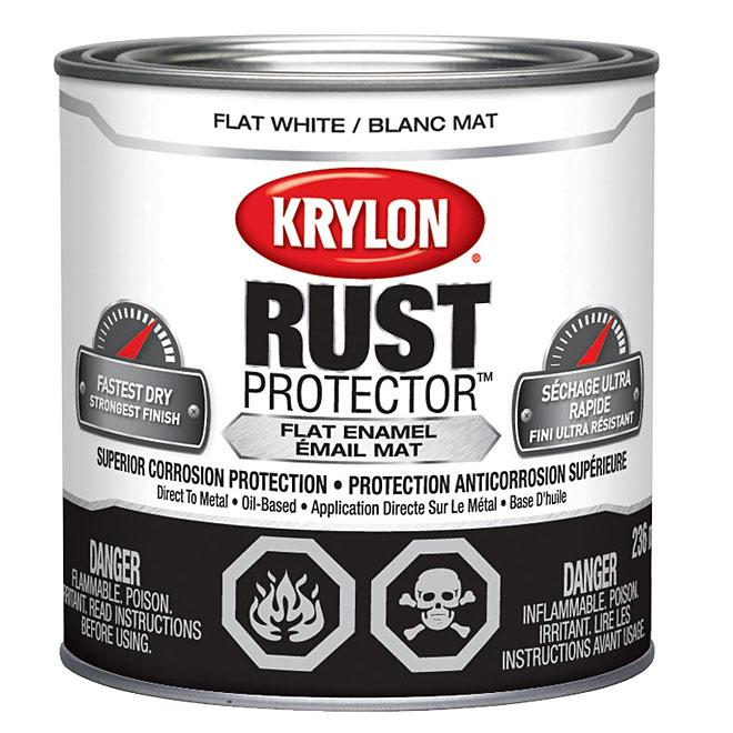 Peinture-émail antirouille Rust Protector Krylon, 236 ml, blanc mat
