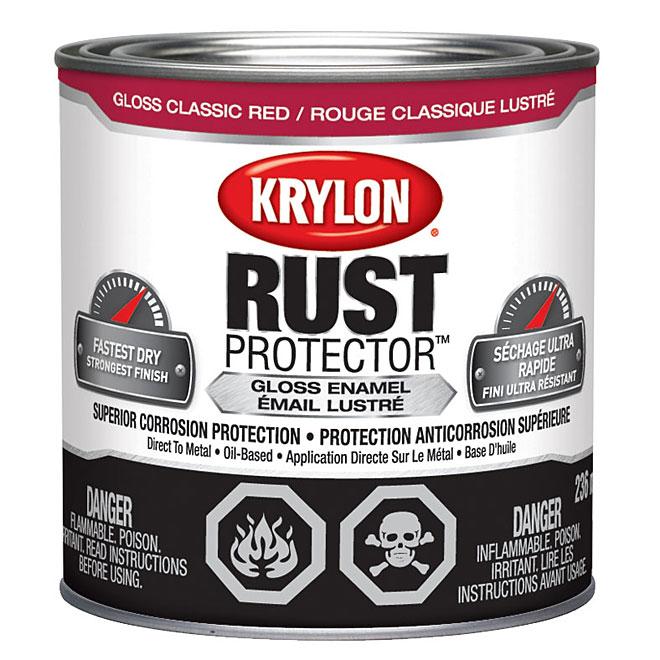 Krylon Rust Protector - Rust Preventative Enamel - 236 ml - Gloss Classic Red
