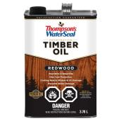 Thompson's Waterseal Penetrating Timber Oil - Redwood - Transparent - Exterior Stain - 3.78-L
