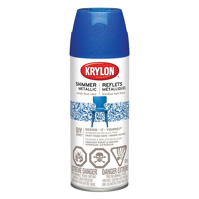 Metallic Spray Paint - 326 g - Candy Blue Raspberry