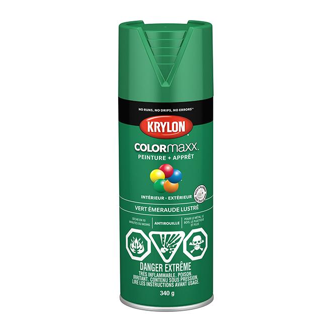 Peinture et apprêt COLORmaxx, aérosol, 340 g, vert émeraude