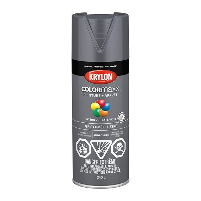 Peinture et apprêt COLORmaxx, aérosol, 340 g, gris fumée