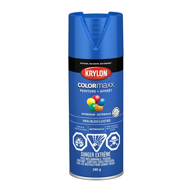 Peinture et apprêt COLORmaxx, aérosol, 340 g, vrai bleu