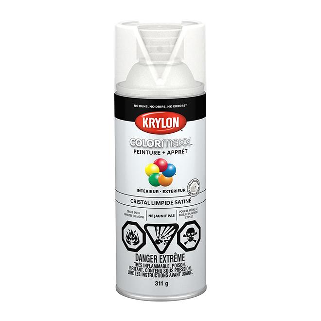 Peinture et apprêt Krylon Colormaxx, 340 g, cristal limpide