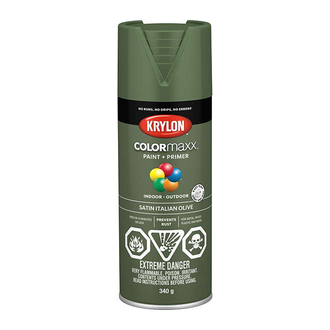 Krylon Paint and Primer - Colormaxx - 340 g - Italian Olive