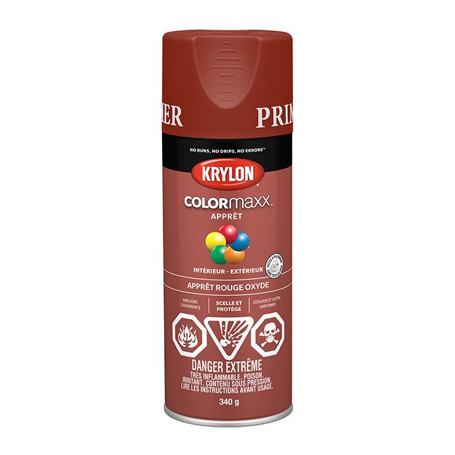 Peinture et apprêt Krylon Colormaxx, 340 g, rouge oxyde