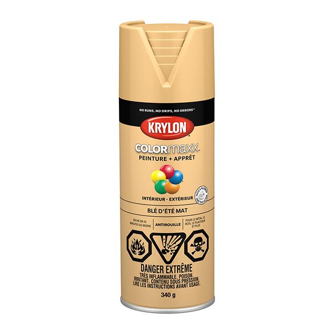 Peinture et apprêt Krylon Colormaxx, 340 g, blé d'été