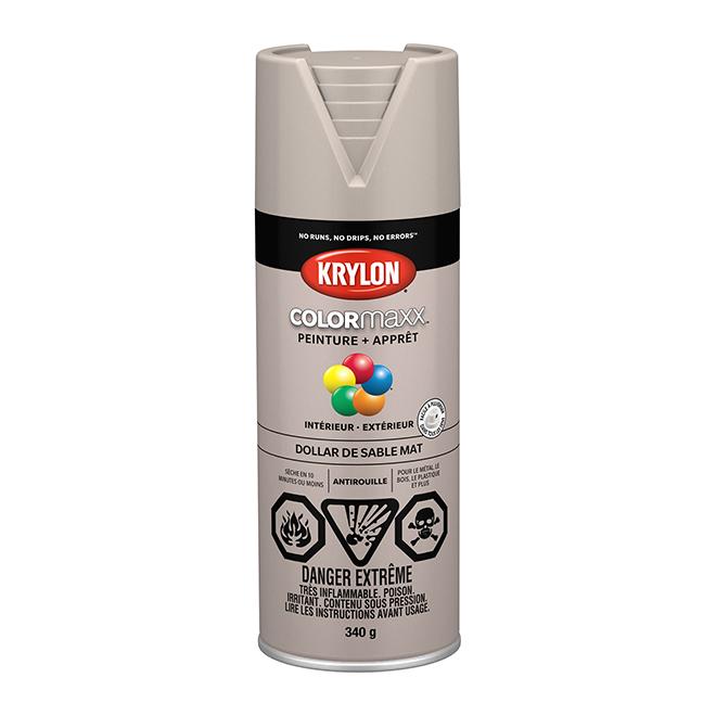 Peinture et apprêt Krylon Colormaxx, 340 g, dollar des sables