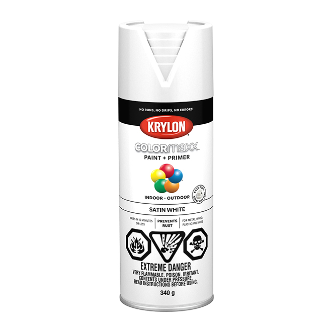 Krylon Paint and Primer - Colormaxx - 340 g - Satin White