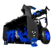 "24"" Cordless Self-Propelled Snowblower - 2 Stages - Black/Blue"