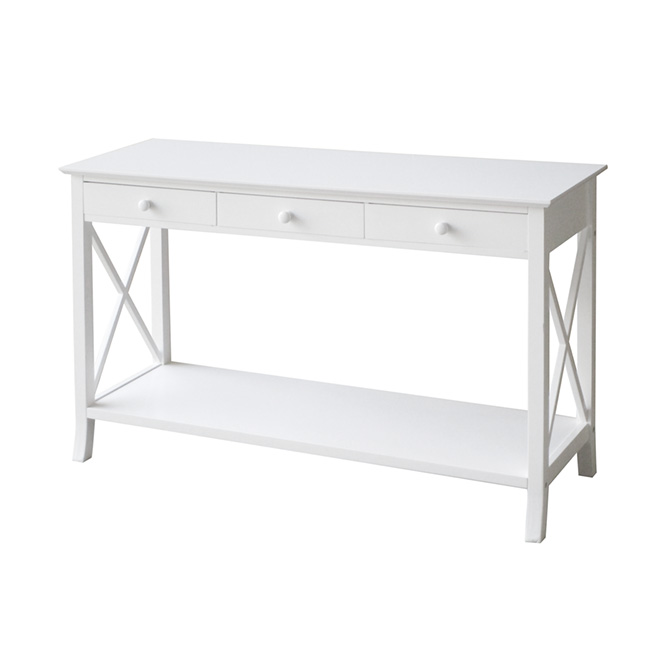 table console 3 tiroirs blanche rona. Black Bedroom Furniture Sets. Home Design Ideas
