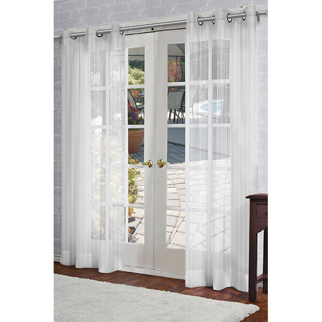 "Joyce Curtain Panel - Grommet - 54"" x 84"" - White"