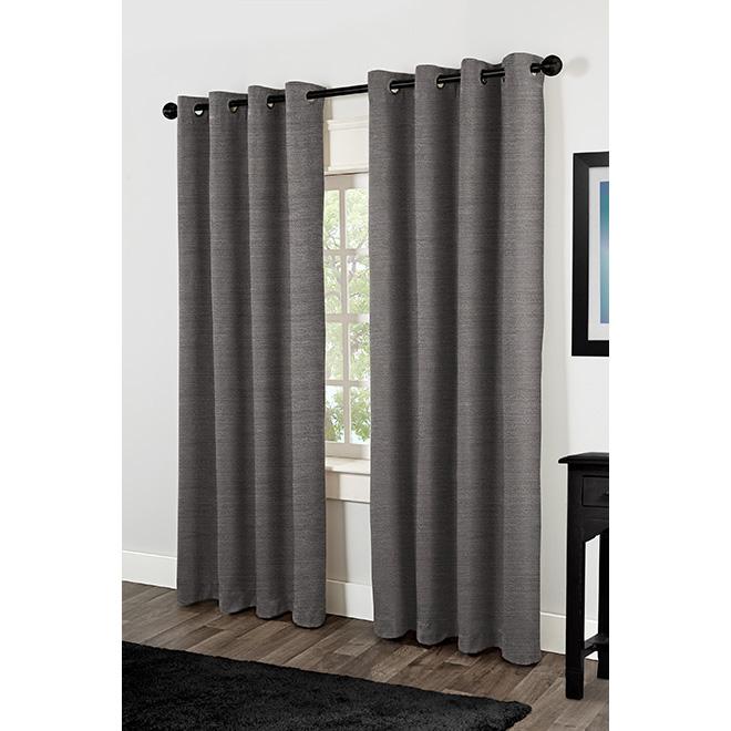 "Rialto Curtain Panel - Grommet - 54"" x 84"" - Pearl Black"
