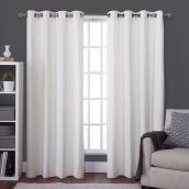 Raw Silk Blackout Thermal Curtain Panel - 54-in x 84-in - Off White