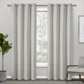 Design Décor Modern Textured Elyse Curtain - 84-in x 52-in Dove Grey