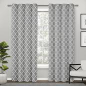 Traditional Flatiron Curtain - Polyester 84-in x 52-in Silver