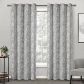 Traditional Morgan Leaf Curtain - Polyester 84-in x 52-in Grey