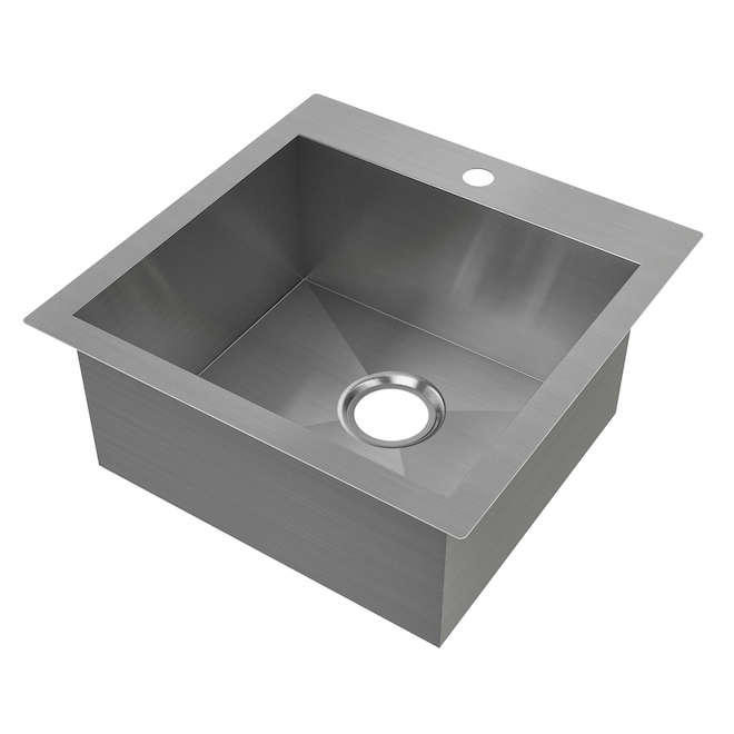 "Odyssey Single Sink - Stainless Steel - 20.5"" x 20.5"""