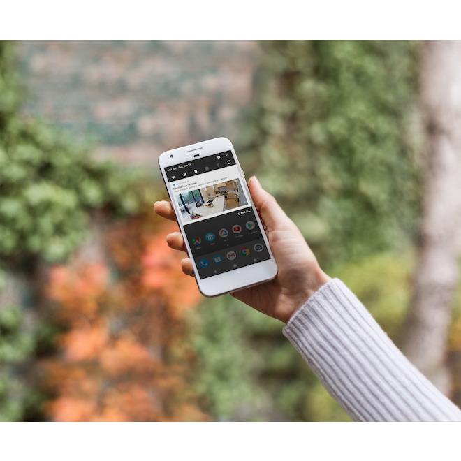 Google Nest Cam IQ Indoor Security Camera - Wi-Fi - 1080p HD - White