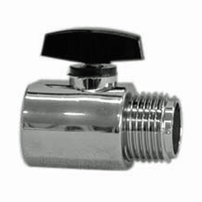 Flow Rate Control - 1/2'' x 1/2'' - Plastic - Chrome