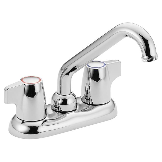 Manor Laundry Faucet - 2 Blade Handles - Chrome
