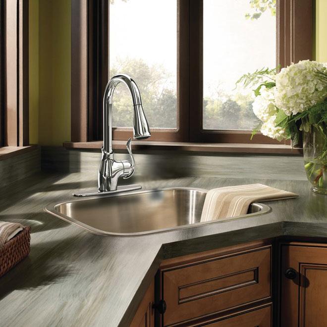 moen boutique 1 handle kitchen faucet ca87006 rona rh rona ca  moen boutique kitchen faucet parts