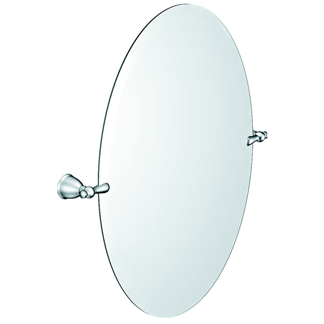 "Moen - Caldwell Oval Mirror - 19"" x 26"" - Metal - Chrome"