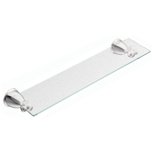 "Caldwell Vanity Glass Shelf - 20"" x 5"" - Chrome"