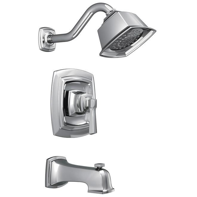 Moen Boardwalk Bathtub and Shower Faucet - 1 Handle - 7.6-L/min - Chrome