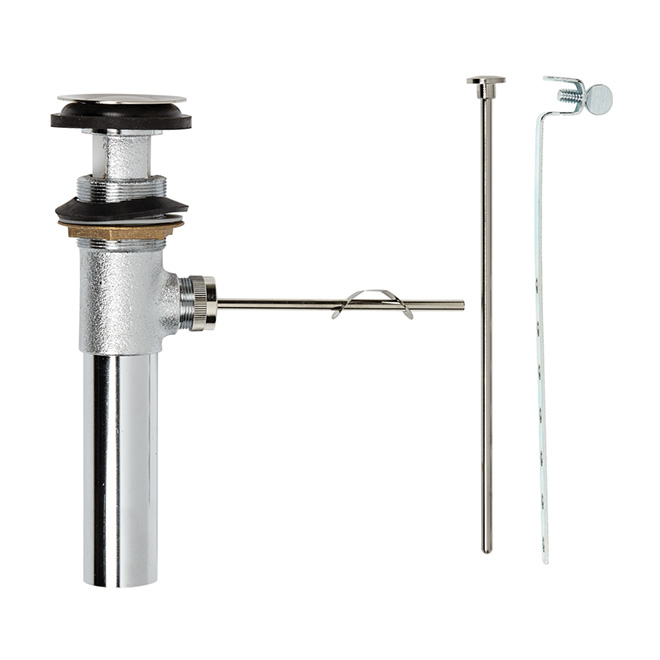 """Pop-Up Drain Assembly - 1 1/4"""" - Brushed Nickel"""