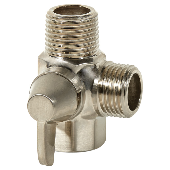Shower Diverter - 3 Way - Brass