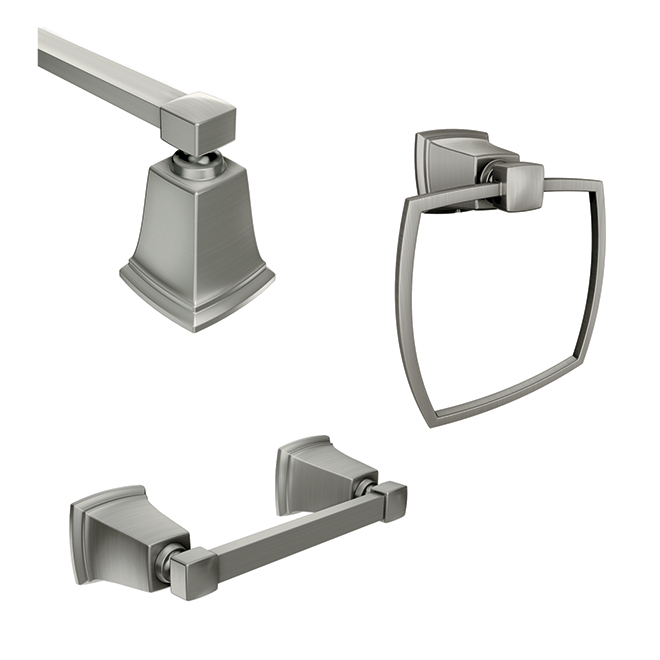Bathroom Accessory 3-Piece Set - Boardwalk - Brushed Nickel