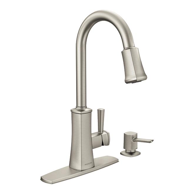 Bridgestone 1-handle Pull-Down Kitchen Faucet - Stainless Steel