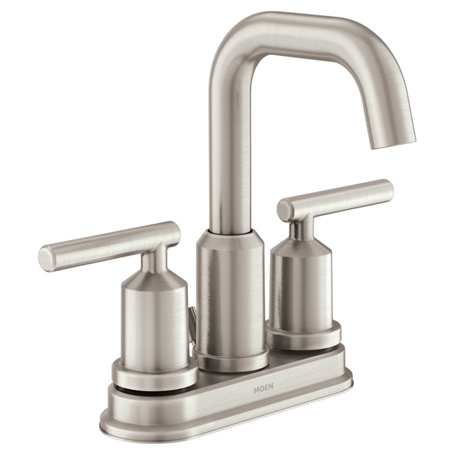 "Gibson Bathroom Faucet - 2 Handles - 4"" - Brushed Nickel"