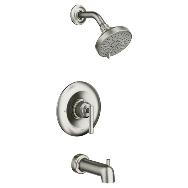 Gibson Tub and Shower Faucet - 1-Handle - Brushed Nickel