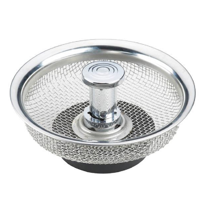 Mesh Strainer and Stopper - Stainless Steel
