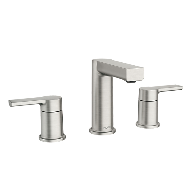 Moen Rinza Lavatory Faucet with Spot Resist Brushed Nickel Finish - 2 Handles