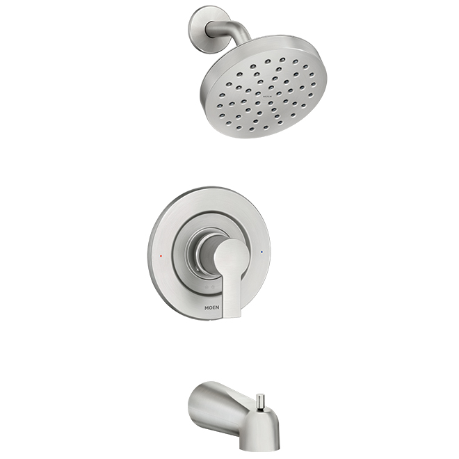 Rinza(TM) 1-Handle Tub and Shower Faucet - Brushed Nickel