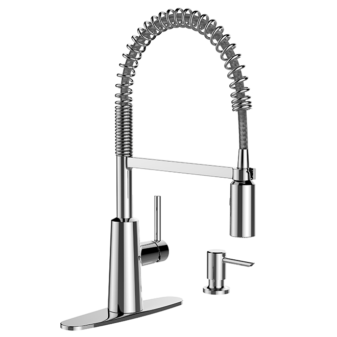 Moen - Nori Kitchen Faucet with Dispenser - 1 Handle - Chrome