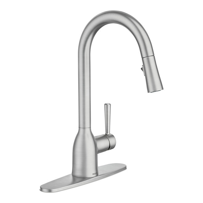 Moen Adler Pull-Down Kitchen Faucet - 14.56-in - Spot-Resistant Stainless Steel