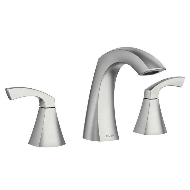 Moen Lindor 2-Handle Bathroom Sink Faucet - Metal and Plastic Brushed Nickel