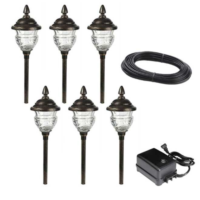 Ensemble de 6 luminaires de jardin