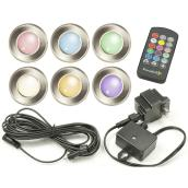 Set of 6 LED Multicolour Low Voltage Exterior Lighting - 12 V