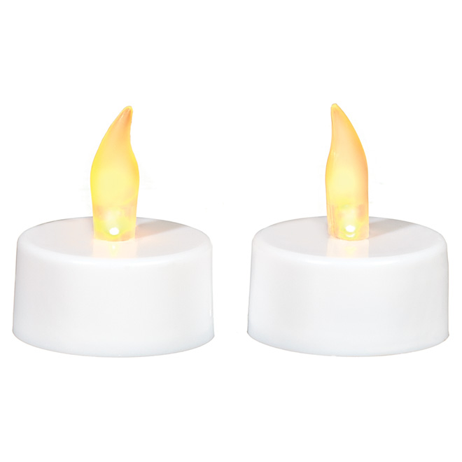Flameless Tealight Candles - White - 2-Pack