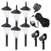 Set of 8 garden lights - 12 V
