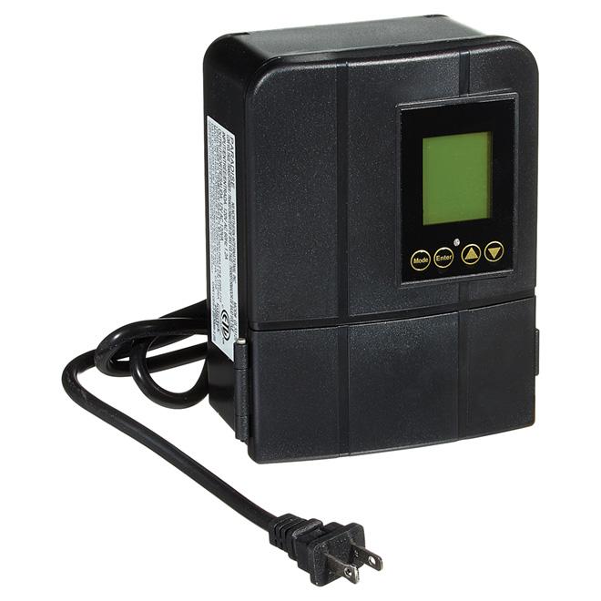 """Transformateur pour l'extérieur, 120 W, 4"""", noir"""
