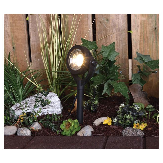 LED Garden Spotlight - 1 LED - Black