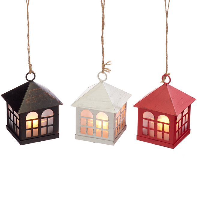 Battery-Operated Lantern - Plastic - Assorted