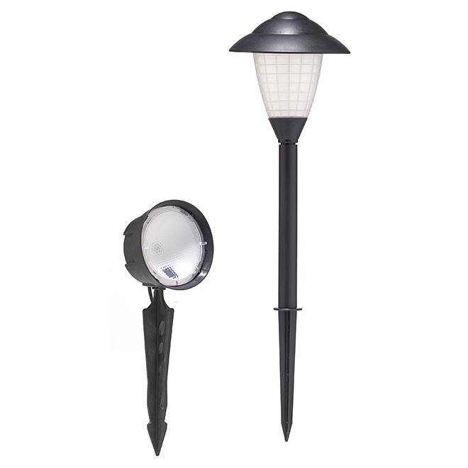 Lumières et projecteurs de jardin, bas voltage, noir